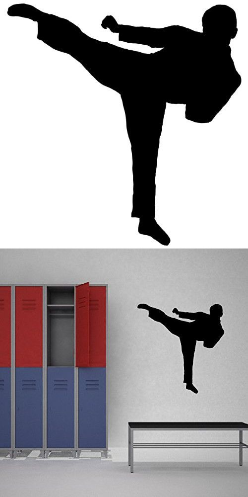 Martial Arts Wall Decal Sticker 15 Decal Stickers And Mural For Kids Boys Girls Room And Bedroom Karate Sport Wall Art For Home Decor And Decoration Martia Sports Wall
