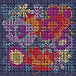 Medlow Studio - Florabundance (Printed Canvas Tapestry/Needlepoint Cushion/Throw Pillow Kit), (http://www.medlowstudio.com/florabundance-printed-canvas-tapestry-needlepoint-cushion-throw-pillow-kit/)