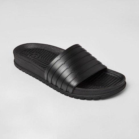 Black sandals, Mens slide sandals, Men