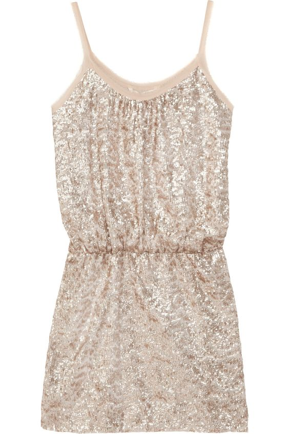 Rebecca Taylor|Sequined fine-knit mini dress.