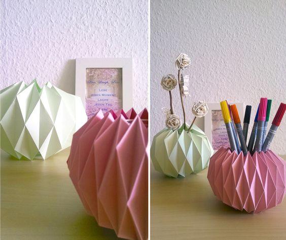 DIY Origami Gläser