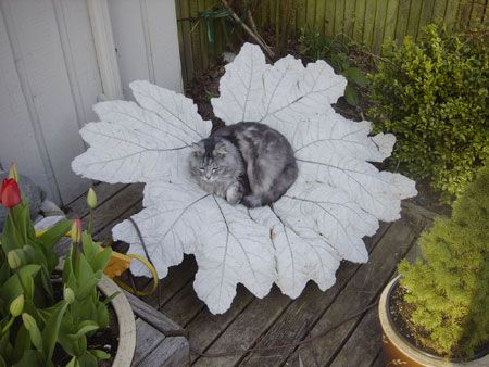 How to make concrete leaves....