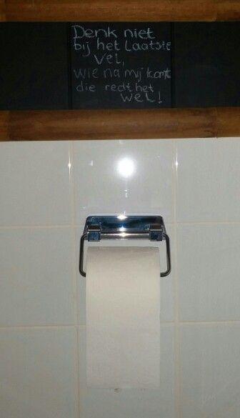 Toilet paper wall art Wc spreuken   Sels makke / Selfmade ...