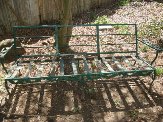 Metal Patio Furniture X. Metal Patio Furniture Antique Outdoor Vintage Sofa Lawn  Chair Etsy