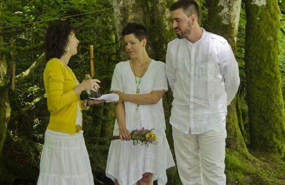 Ceremonia boda civil en el bosque :: Sorogain, Navarra. Civil Ceremony.