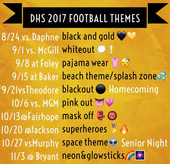 Football Game Student Section Themes School Spirit Week School Spirit Ideas Pep Rally School Spirit Days