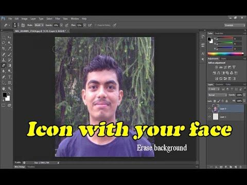 How to create a computer folder icon with your FACE  Photoshop tutorial