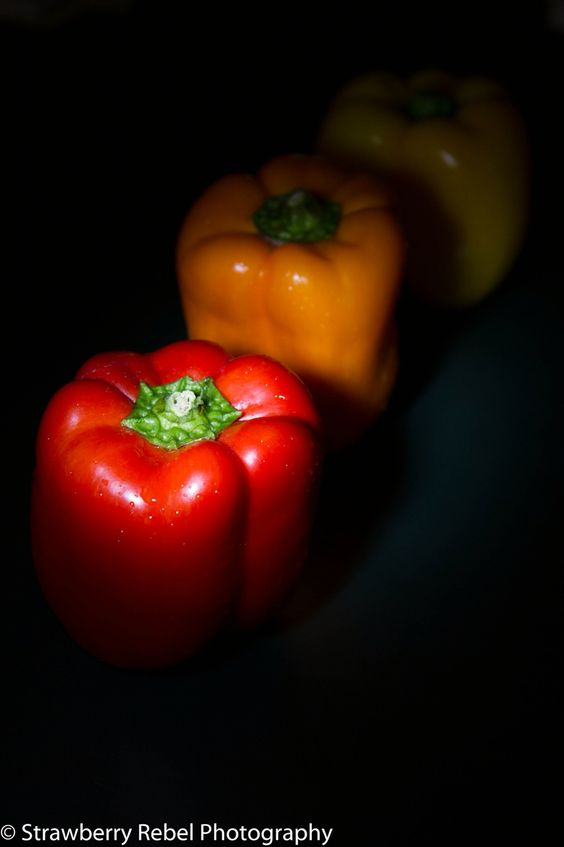 #peppers #red #yellow #orange