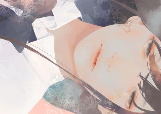 m, girl, art