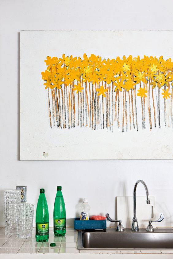 Loft Simple Flowers Bohemian Bohemian Style Pintura Warehouses Repeat