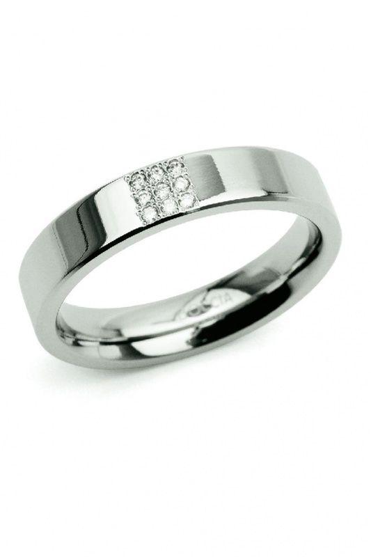 0121-02 - Boccia Titanium dames ring met 9 diamanten