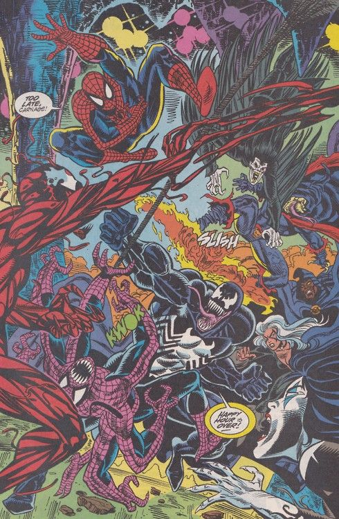 black spiderman vs carnage - photo #26
