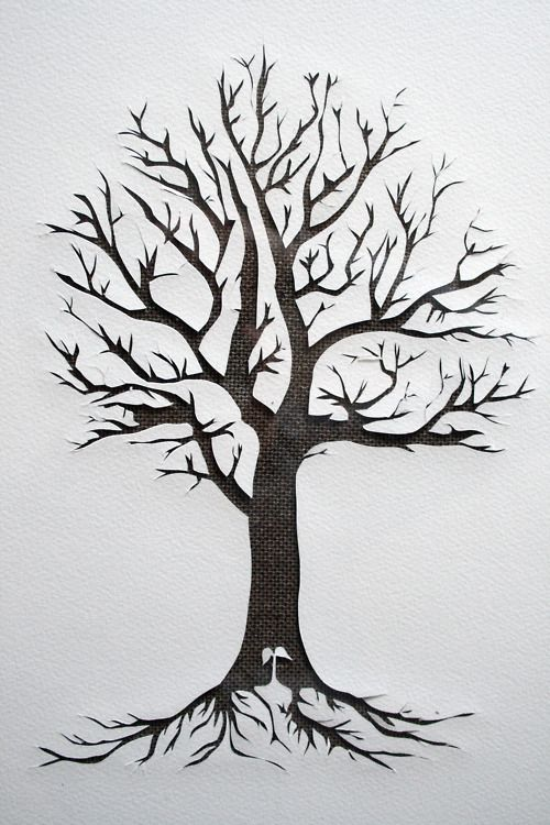 Dericulous paper tree paper craft pinterest for Printable tattoo paper