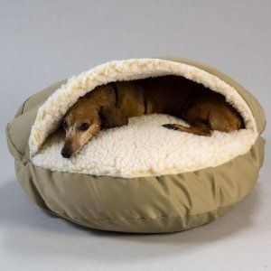 Santa's got this one covered! Cozy cave pet bed
