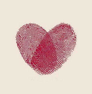 LOVE the impact of thumbprint art