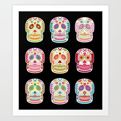 Day of the dead Art Print by Polkip - $16.00