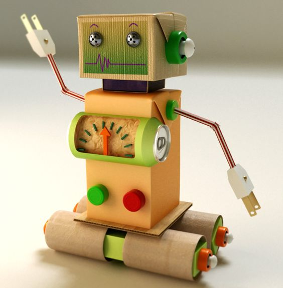 how to make a robot with cardboard for kids