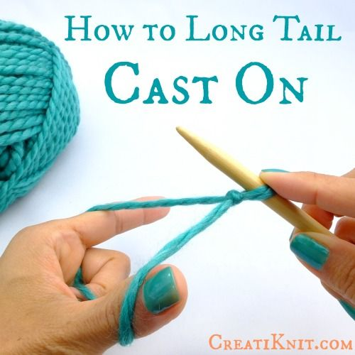 Knitting How To Cast On Stitches : How to cast on stitches using long tail