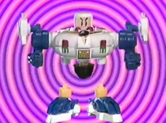 独楽ロボット / すげゴマ 白ボンバーマン 1999 japanese toy