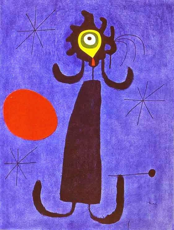 Mulher ao Sol - Miró