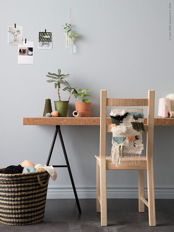 DIY Love this idea of weaving a piece to the back of an IKEA