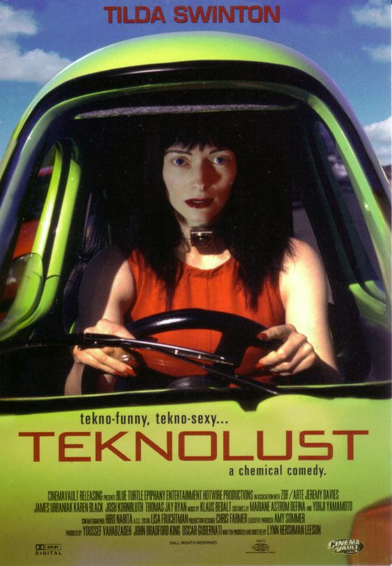 teknolust - Tilda Swinton plays four roles in this fun and quirky sci-fi thriller set in San Franscisco--a nerdy scientist and her three cyberclones: siren Ruby, shopaholic Marina, and practical Olive. Ruby drives this little green one-seater