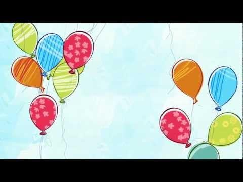 خلفيات مونتاج متحركة بالونات للأعياد والمناسبات Youtube Background Image Art