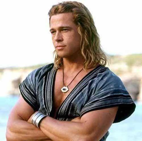 20 Coole Lange Frisuren Fur Manner Frisur Frisuren Brad Pitt Brad Pitt Long Hair Brad Pitt Troy