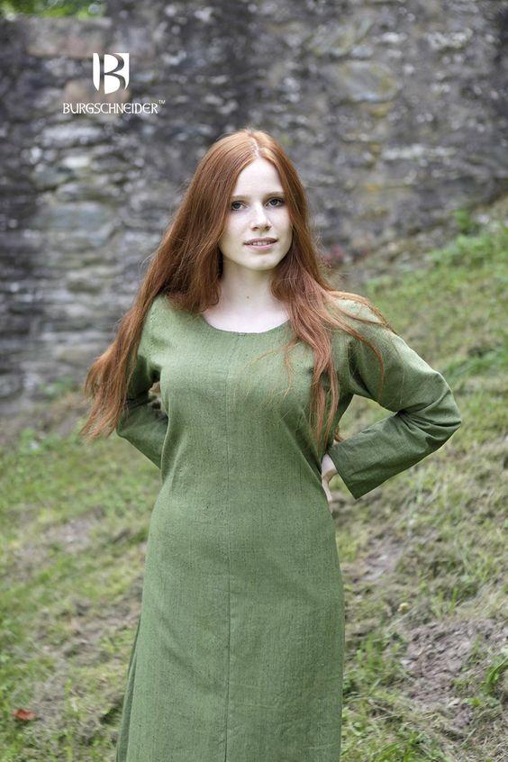 """Viking damestuniek/jurk """"Freya"""" lichtgroen"""