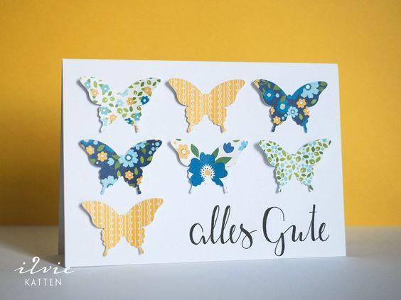 Und noch eine Geburtstagskarte {Schmetterlinge}