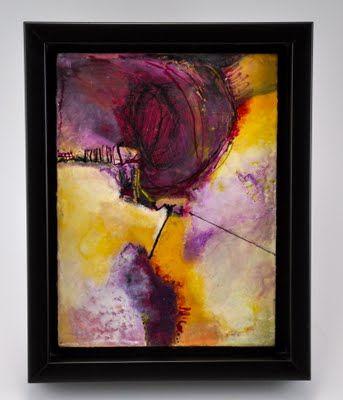 Oil paint,encaustic medium and oil stick