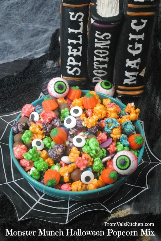 Monster munch halloween popcorn mix recipe   from val's kitchen ...