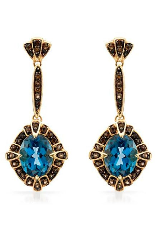 4.85 CTW Topaz 14K Gold Earrings - Enviius