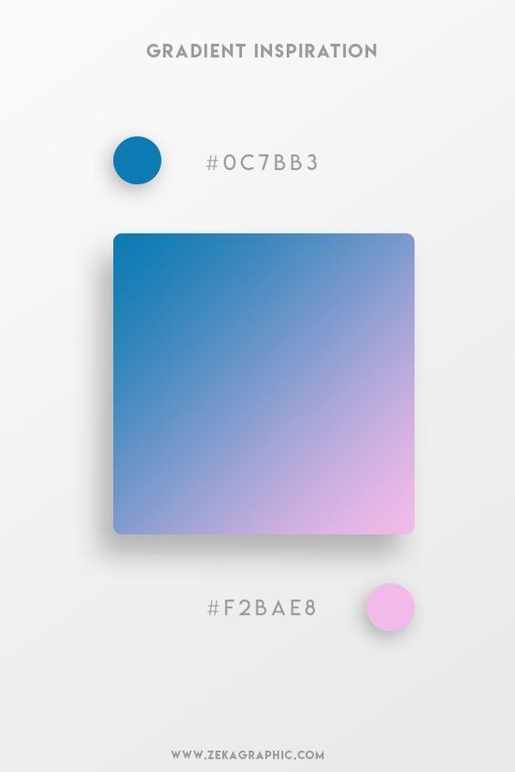Beautiful Gradient Color Palettes Blue Pink Gradient Color