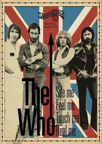 The Who - Stonehenge Rock Bar - September 1978 - Mini Print