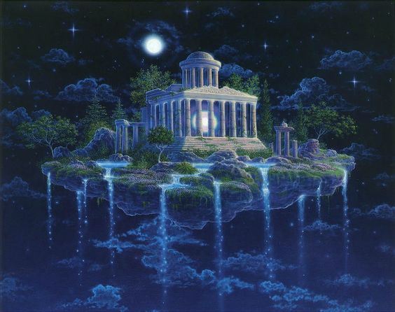 Landscapes Greek Temple In The Heavens