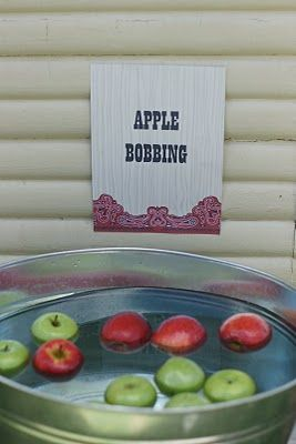 apple bobbing - A little Polkadot: Giddy up.... {Cowboy Party Part I}