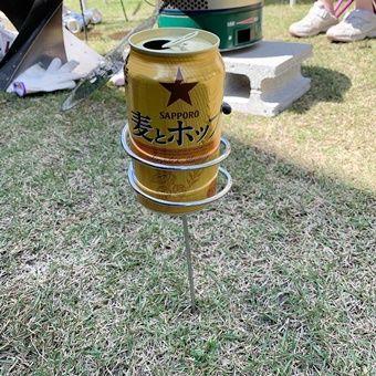 この グルグル すごいヤツ 100均ダイソー の地面に刺せる ドリンクホルダー を使ってみた Camp Hack キャンプハック ドリンクホルダー ホルダー サーモス マグ