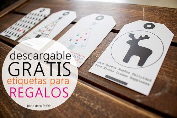 Boho Deco Chic: Descárgate GRATIS nuestras etiquetas de regalos de Reyes