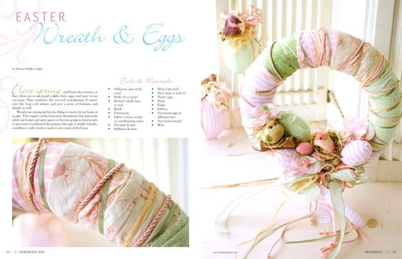 #Easter wreath  eggs