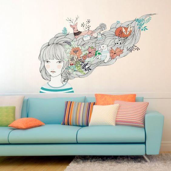 Sticker mural: Mis sueños y yo