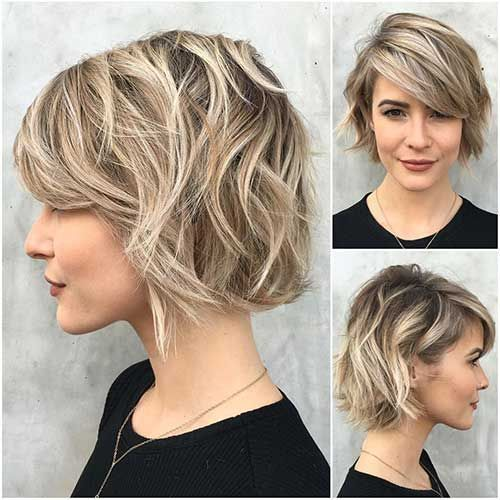 Wirklich Stilvolle Kurze Abgehackte Haarschnitte Fur Damen Abgehackte Damen Haarschnitte Kur Choppy Bob Hairstyles Short Hair With Bangs Thick Hair Styles