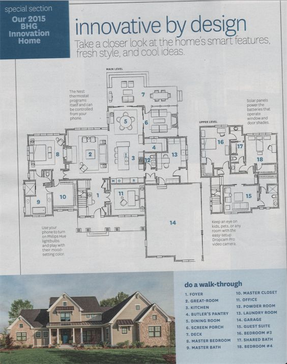 2015 BHG Innovation Home floor plans with front elevation Who