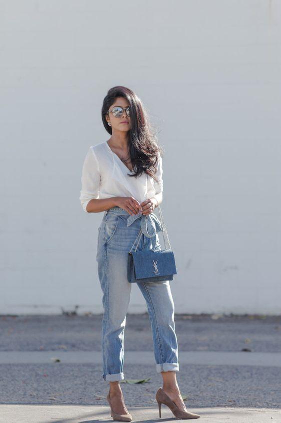 veja como usar calça jeans clochard, o modelo de calça cintura alta com amarração que é super elegante para o verão 2020. Tendências verão 2020 no look trabalho #calcaclochard #looktrabalho #dicasdeestilo #consultoriadeestilo #dicasdemoda