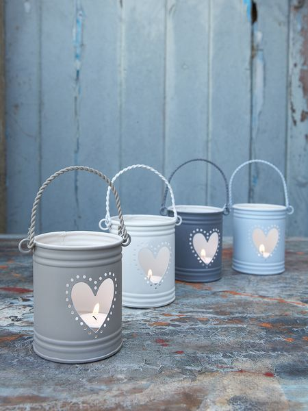 Tealight Hurricane Lanterns, cute idea for the patio/yard, the bathroom, or bedroom; anywhere really, they're so cute!: