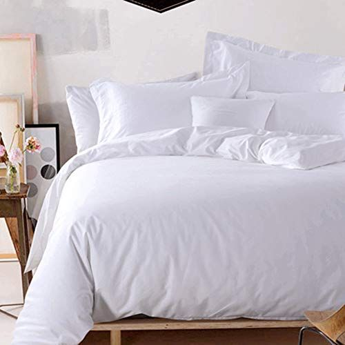 Myz Hotel Luxury Quilt Cover Breathable Reversible Satin Jacquard Duvet Covers Smooth Machine Washable Wrinkle Resista White Luxury Quilts Home Duvet Covers