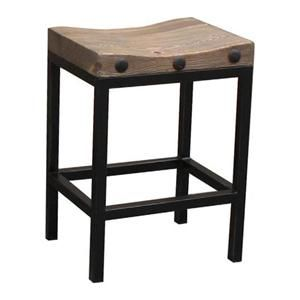 West End Counter Stool in Old Elm and Black