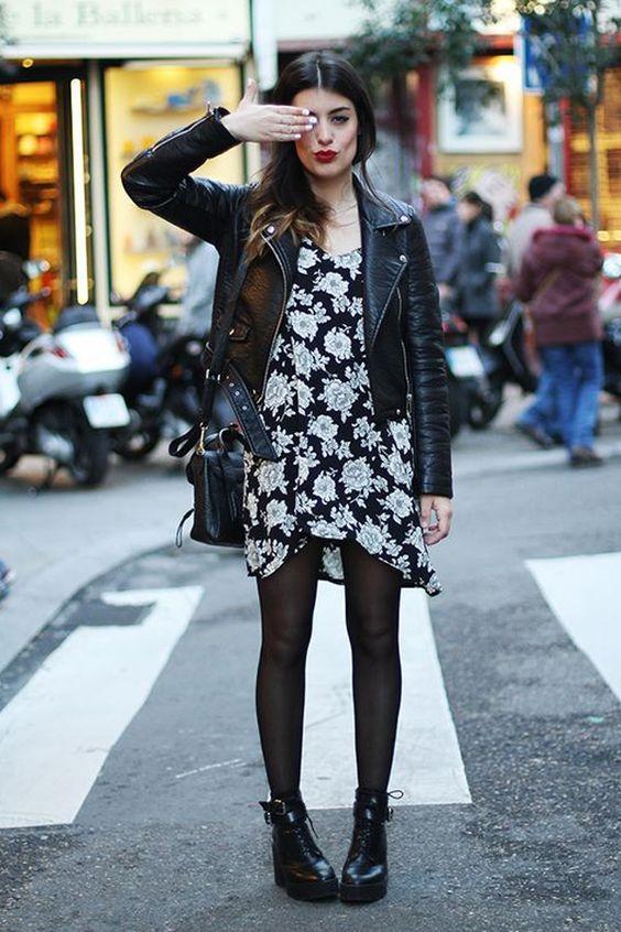 Dulceida mostra como usar meioa-calça com vestido floral