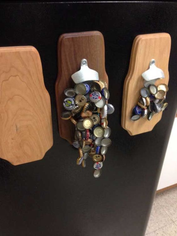 This weekend awesome and magnetic bottle opener on pinterest for Craft projects for guys
