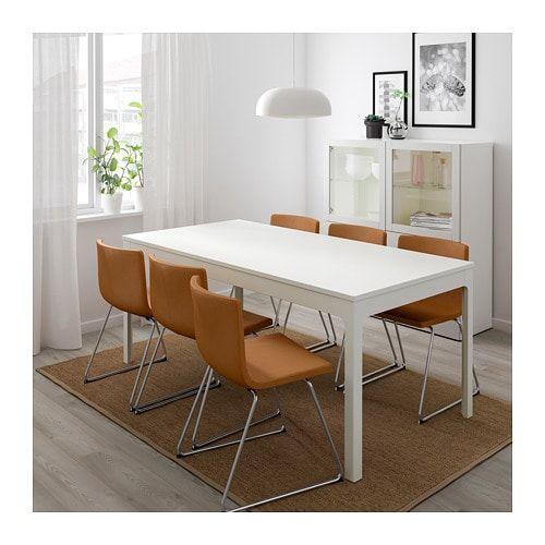 Ikea Eetkamer Stoelhoezen.Ekedalen Uitschuifbare Tafel Wit Tafel Ikea Ikea En Meubelontwerp